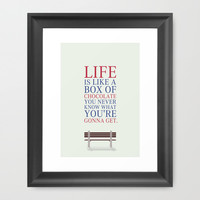 Forrest Gump Movies Quotes Poster Framed Art Print by Lab No. 4 | Society6