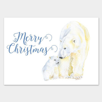 Polar Bears Christmas Cards Set of 10