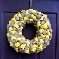 Burlap Bubble Wreath for Front Door