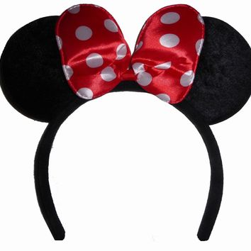 Funfash Halloween Minnie Mouse Ears Polka Dots Headband Costume Adult One Size