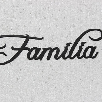 Familia Word Spanish word for Family Black Metal Wall Art Home Decor