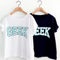GEEk printed t shirt(unique vintage graphic text girl women men boy unisex  )