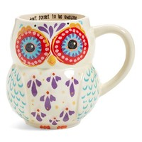 Natural Life 'Don't Forget to Be Awesome' 16oz. Owl Mug