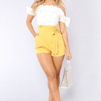It's All Love Romper - Mustard