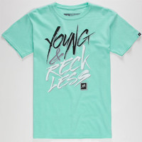 Young & Reckless Slasher Boys T-Shirt Mint  In Sizes