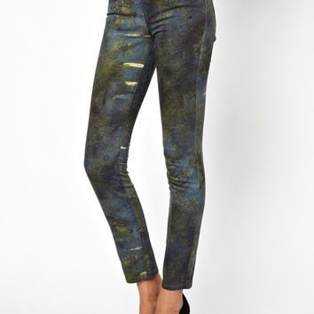 Vivienne Westwood Anglomania For Lee Skinny Jean In Blue