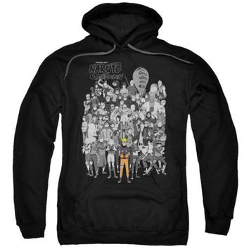 Naruto Shippuden Characters Licensed Adult Hoodie