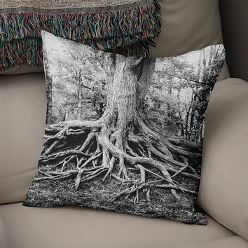 Tree Roots Throw Pillow Cover- 5 Sizes