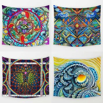 Monily Bohemia Style Mandala Polyester Tapestry Skull Sunflower Geometric  Bob Marley Printed Wall Hanging Beach Towel Yoga Mat