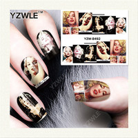 YZWLE 1 Sheet DIY Nails Art Decals Water Transfer Printing Stickers For Manicure Salon YZW-8492