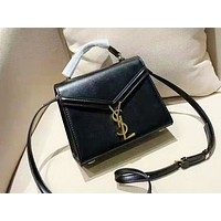 YSL sells simple and pure color shopping bag for ladies Black