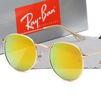 Ray-ban sells shades for casual couples with round frames and tinted lenses