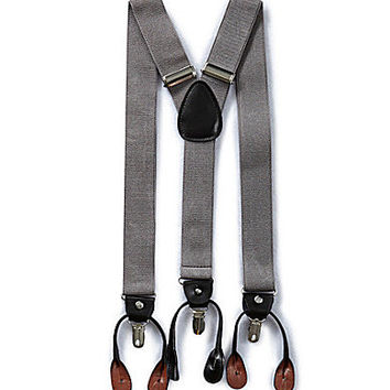Roundtree & Yorke Convertible Suspenders - Black ALL