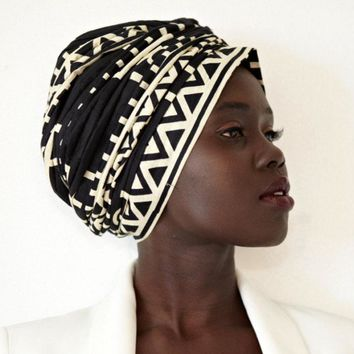 5 pcs cotton Turban Headband  African long Headscarf