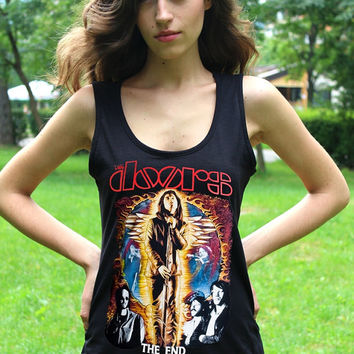 The Doors Tank Top Jim Morrison Shirt The Doors Shirts Vest Doors Band Lady Shirt Women Tank Tops Blues Hard Rock Shirts