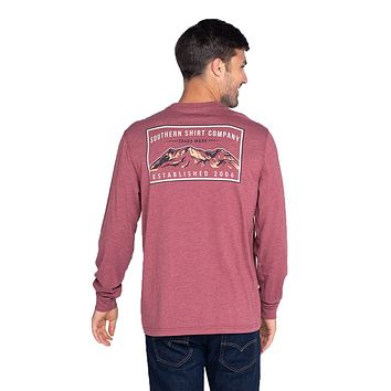 Mountain Stamp Long Sleeve Tee by The Southern Shirt Co.