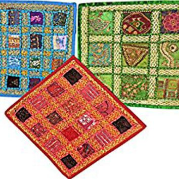 Indian Embroidered Cushion Cover Throw Embroidered Patchwork Pillows Covers