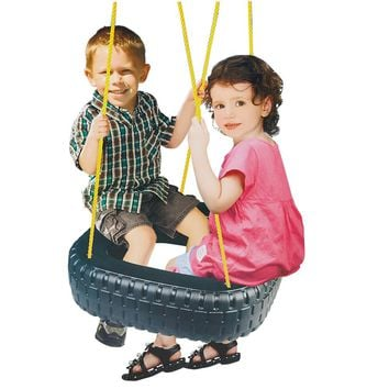 Kids Outdoor Rubber Tire Swing Seat Child Playing Patio Swings Game Outdoor Toy for Parks/Backyards