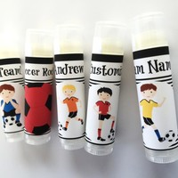 Soccer Custom Lip Balm | Soccer Party Favors | Free Customization