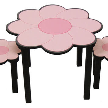 Childrens flower theme activity table and chair set