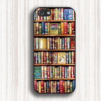 fashion iphone case,book iphone 5s case,bookshelf iphone 5c case,bookrack iphone 4 case,iphone 4s case,book iphone cover,d182