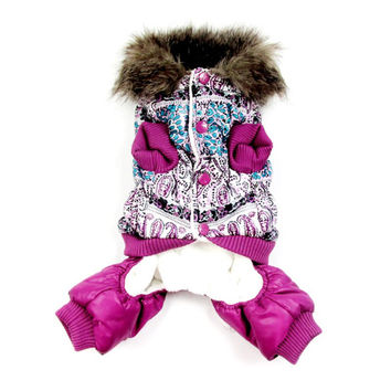 Thick Warmer Jacket Winter Dog Clothes Pet Coat Clothing Hooded Jumpsuit Clothes New