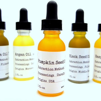 Organic Pumpkin Seed Oil- Cold Pressed - Anti-aging - Acne Treatment - DHT Blocker- Hair Growth Serum- Natural Skin Care - Organic Skin Care