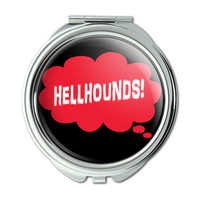 Dreaming of Hellhounds Red Compact Purse Mirror