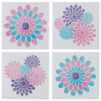 Beautiful Blossoms Wall Canvases - Set of 4