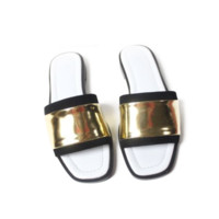 Metallic Slide On Flats