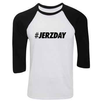 "Jersey Shore ""#Jerzday"" Baseball Tee"