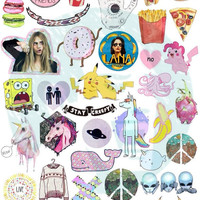 Set #37. Tumblr Stickers. Stickers. Set of stickers. Decals