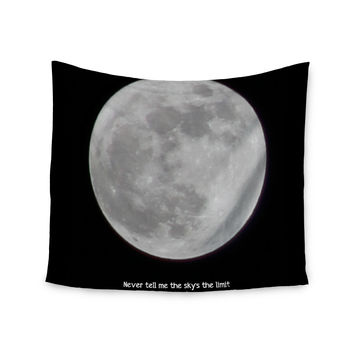 "Sylvia Coomes ""The Moon"" Black White Wall Tapestry"