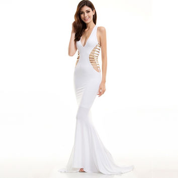 Goddess Athena White and Gold Dress