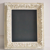 Chalkboard frame, shabby chic, wedding decor, vintage style frame, picture frame chalboard