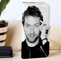 Chris Martin | Coldplay | Music | custom wallet case for iphone 4/4s 5 5s 5c 6 6plus 7 case and samsung galaxy s3 s4 s5 s6 case