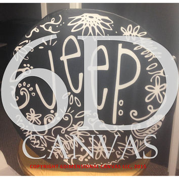 Abstract Jeep Tire Cover