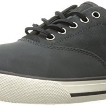 Polo Ralph Lauren Men's Vaughn Saddle Sneaker, Grey, 9.5 D US