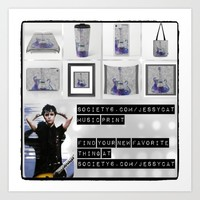 polyvore promo page Art Print by Jessica Ivy