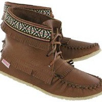 SoftMoc | Women's 137597 maple moose fringe bootie moccasins 137597 MPL L