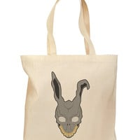 Scary Bunny Face Grocery Tote Bag