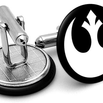 Star Wars Rebel Alliance White Cufflinks