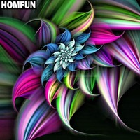 5D Diamond Painting Colorful Swirling Petals Kit