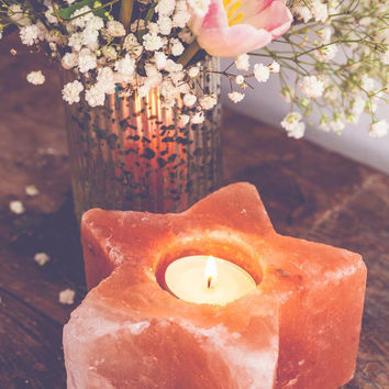 Star Rock Salt Candle Holder