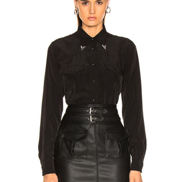 LAUREL & MULHOLLAND Kirkwood Shirt in Black | FWRD