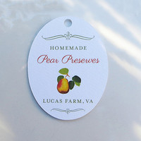 20 Pear Tags, for Preserves, Canning, Wedding Favor Tags for The Perfect Pair