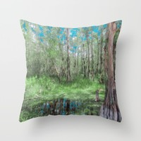 Looking Down on the Sky Throw Pillow by Gwendalyn Abrams