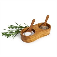 Teak Salt & Pepper Set (491562230), Eco Kitchen Accessories, Compost Bins, & More | bambeco