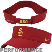 Nike USC Trojans Dri-FIT Stadium Adjustable Performance Visor - Cardinal