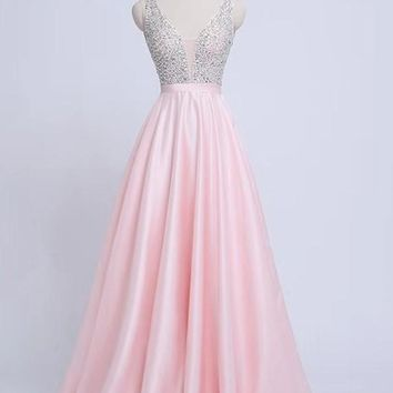New Pink Patchwork Sequin Grenadine Pleated Sparkly Glitter Birthday Prom Evening Party Maxi Dress